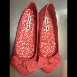 American Eagle by Payless Coral Avery Bow Flats